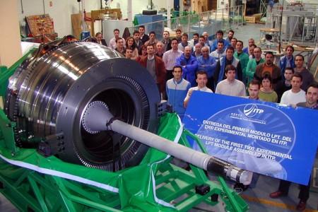 Modulo de la turbina de baja presión del Rolls-Royce Trent 900.