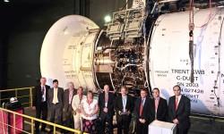 Motor Trent XWB en el baco de ensayos del INTA