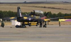 La RAF británica está presente con dos Tucano.