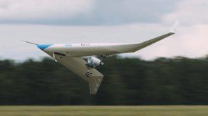 El Flying-V de la Universidad TuDelft y KLM en vuelo.