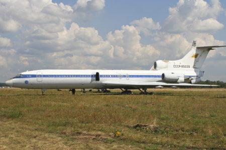 Tupolev Tu-155, avión exxperimental que usaba hidrógeno en el motor número 1.