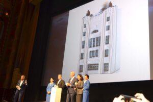 Acto de presentación de la casa 102 de KLM en el cine Tuschinski.