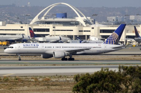 Boeing 757-200 de United Airlines en los Ángeles.