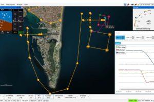 Representación gráfica del plan de vuelo mediante el nuevo softaware de UAV Navigation.