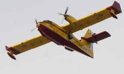 Los Canadair CL-215 son propiedad del Ministerio de Medio Ambiente y Medio Rural y Marino y operados por el Ejército del Aire