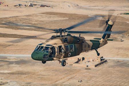 Sikorsky UH-60 de la Fuerza Aérea de Afganistán.