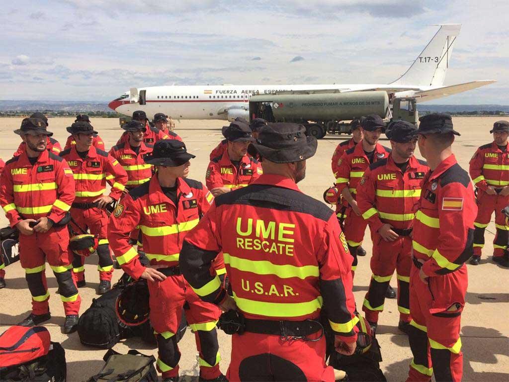 46 militares de la UME trabajan ya sobre el terreno en Nepal