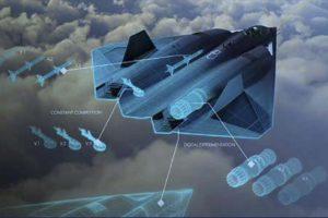 Imagen del que podría ser el nuevo avión de combate secreto de la USAF.