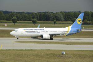 Boeing 737-800 de Ukraine International similar al accidentado.