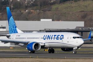 Boeing 737 MAX de United Airlines.