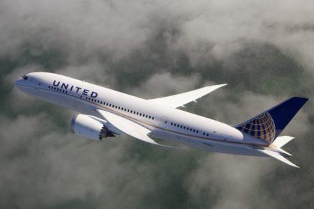 United adoptó una decoración distintiva para sus Boeing 787 Dreamliner, que se ha convertido en la base de la nueva imagen.
