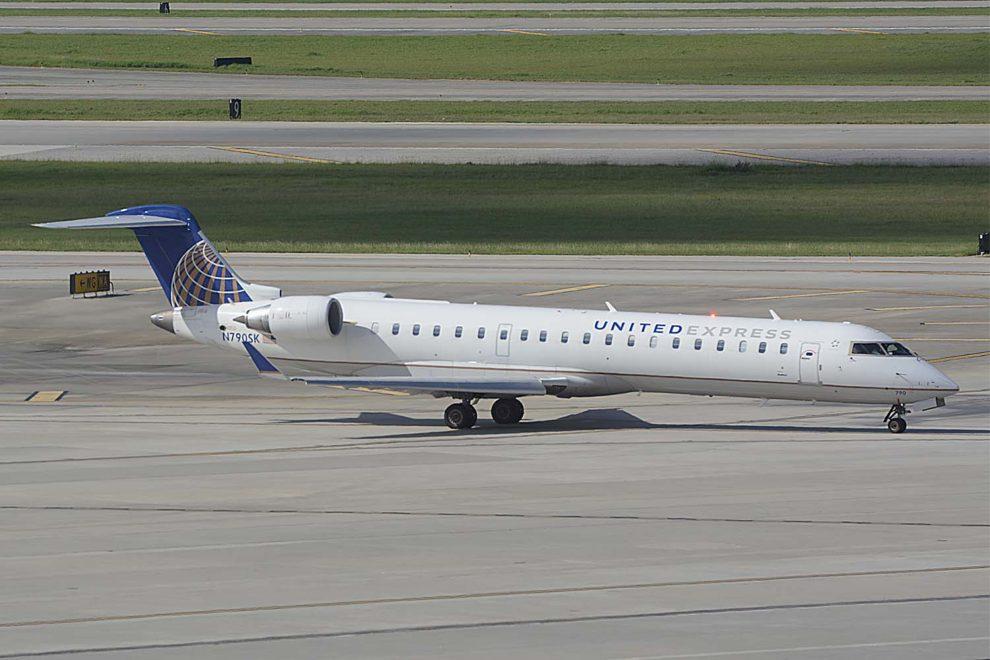 CRJ700 de United. El nuevo CRJ550 se basará en esta plataforma.
