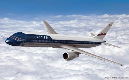 Diseño retro de los aviones de United