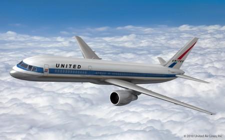 Propuesta de avión retro para United