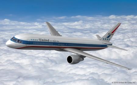 Propuesta retro para los aviones de United