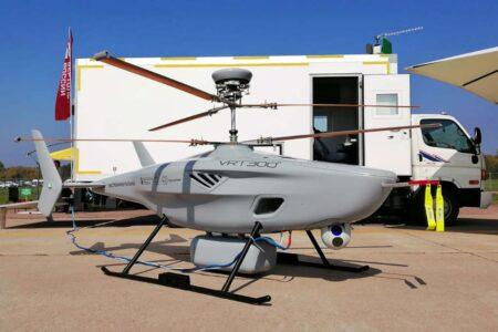 UAV VTR300 durante sus pruebas de funcionamiento.