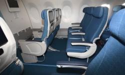 Los 33 asientos de turista superior son iguales que los de turista pero con una mayor separación entre ellos.