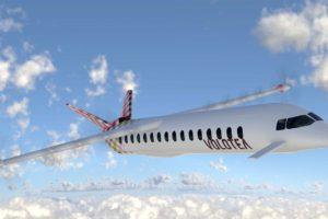Así podría ser el avión eléctrico-híbrido en el que Volotea colabora con Dante Aeronautical.