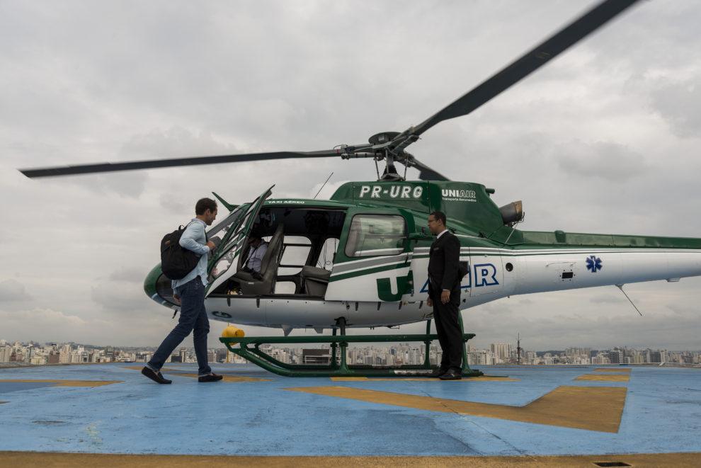 Sao Paulo y Ciudad de México son dos de las ciudades con un mayor número de helicópteros en su cielo para evitar atascos de tráfico y una mayor seguridad.