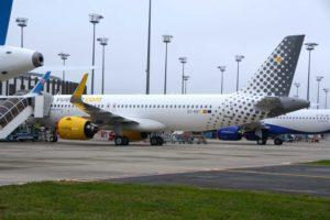 Airbus A320neo EC-NAY en el centro de entregas de Airbus en Toulouse. Es el próximo Airbus A320neo que recibirá Vueling.