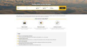 Captura de pantalla de la web de Vueling Global.