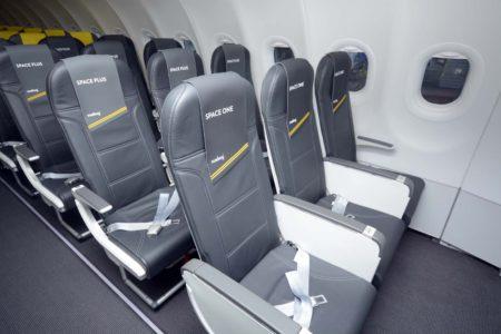 Las primeras filas de los aviones de Vueling son ahora Space One y Space Plus.