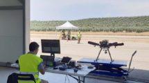 Preparación en el campo de Villacarrillode uno de los vuelos dentro del Proyecto GAUSS.q