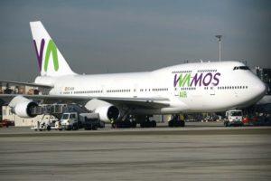 El último de los Boeing 747 de Wamos Air cuando todavía llevaba los colores de esta.