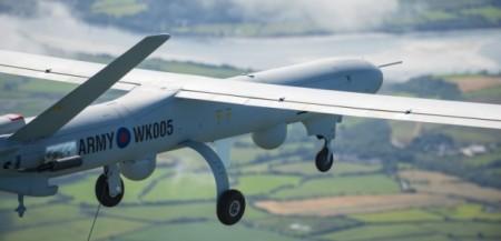 El Watchkeeper durante su vuelo en espacio aéreo controlado y no segregado