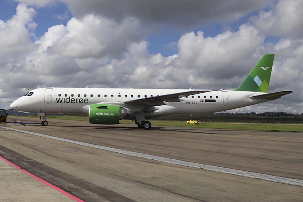 Entre las entregas del segundo trimestre de 2018 de Embraer han estado los tres E190-E2 adquiridos por Wideroe.