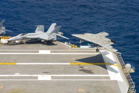 Pruebas del UAV XB-47B en el portaviones CVN-77 George H. Bush.