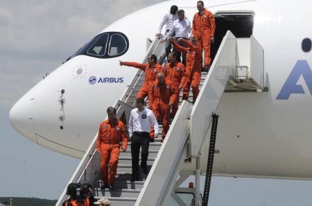 Llegada del primer Airbus A350
