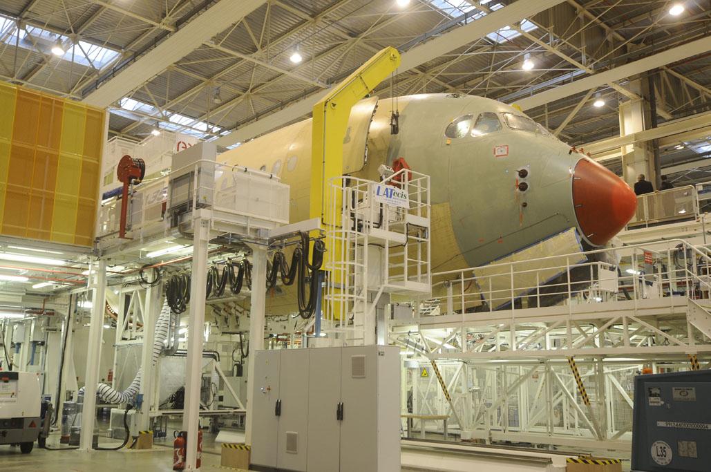 Célula de ensayos estáticos del Airbus A350