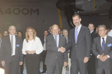 Ceremonia de entrega del primer A400M a Francia