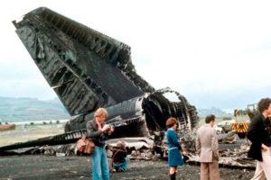 Imagen del accidente aéreo en el aeropuerto de Los Rodeos el 27 de marzo de 1977.