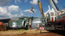 Recuperación del prototipo del KC-390 tras su accidente.