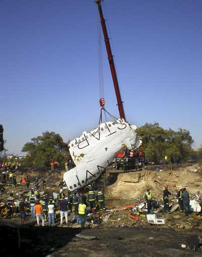 Restos accidente vuelo JK5022