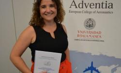 Vanessa de Velasco el día de la presentación de su PFG en la escuela Adventia