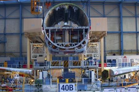 Cadena de montaje del Airbus A330