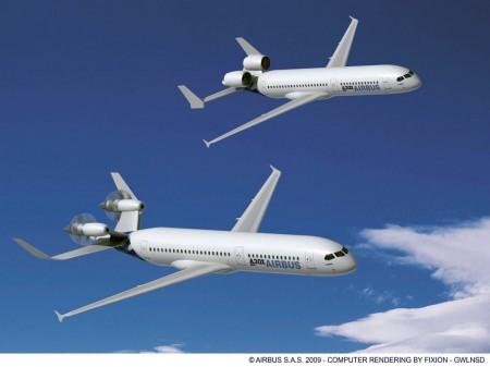 Diseños de Airbus para el sustituto del A320