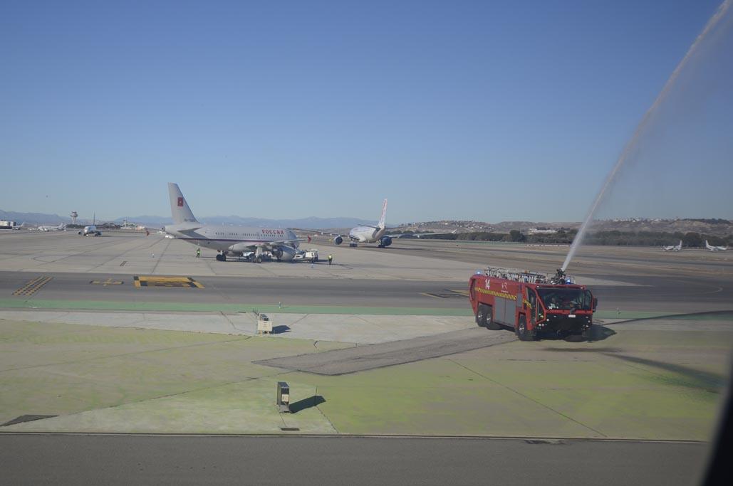 Salida hacia Sao Paulo del vuelo inaugural de Air Europa