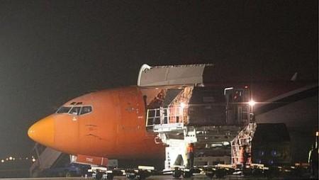 B-737 de TNT en Bolonia/EFE