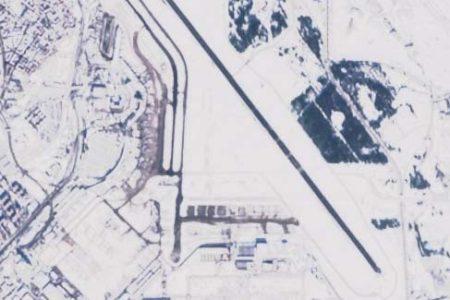 La zona sur de barajas vista por el satélite Sentinel de la ESA. Abajo al centro, la Rampa 7.