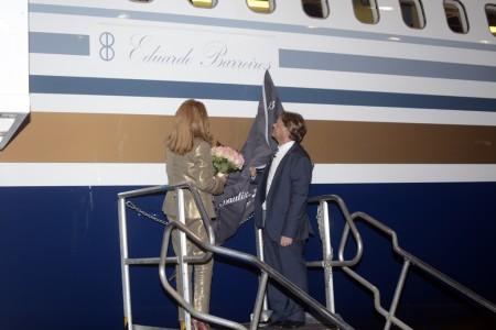 Descubrimiento del nombre de Eduardo ABrreiros en el fuselaje del Boeing 767 de Privilege Style
