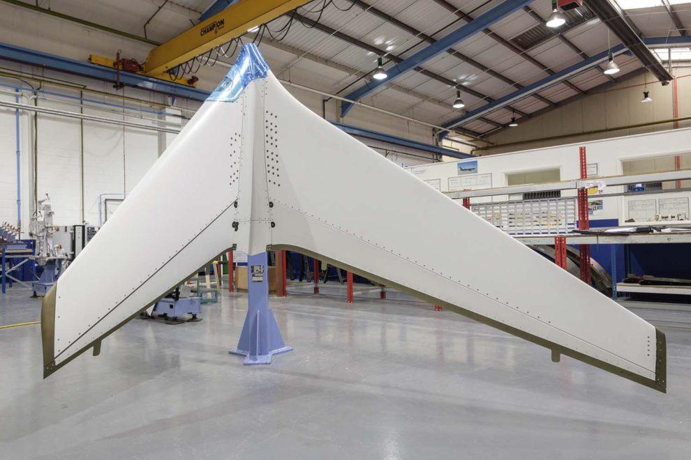 Winglet del Boeing 737 MAX producido por GKN en Reino Unido.