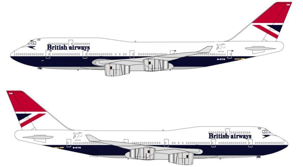 Así lucirá el cuarto retro de British Airways por sus 100 años.