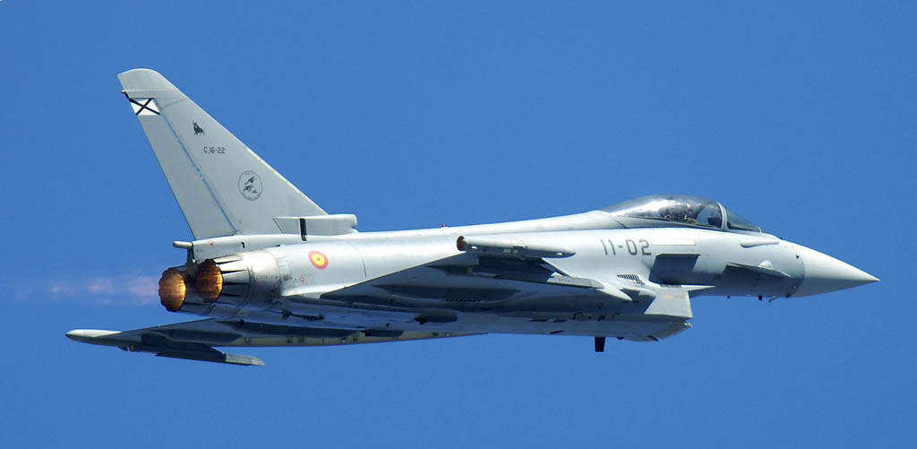 C16-22/11-02 Eurofighter del Ala 11 similar al accidentado en Morón.