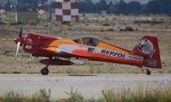 Castor Fantoba es el actual campeón de Europa de vuelo acrobático con su Sukhoi Su-26M.