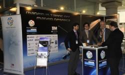 Stand del Cluster Aeroespacial de Madrid en la feria Aerodays.