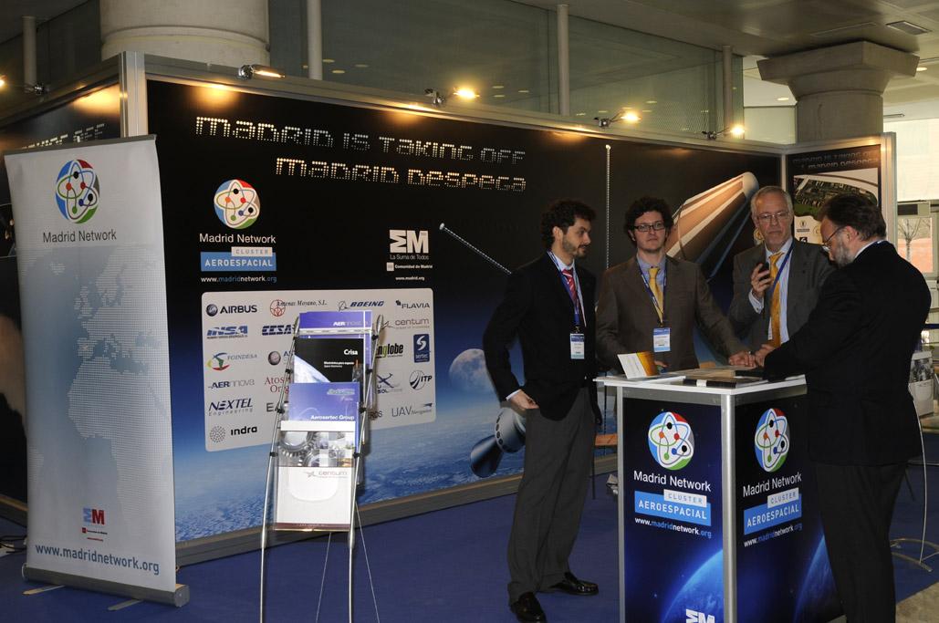 Stand del Cluster Aeroespacial de Madrid